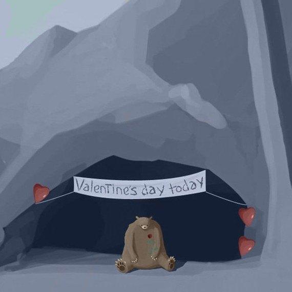 Drunk on Valentine's Day