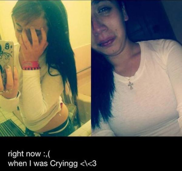 Worst Selfies Ever Crying