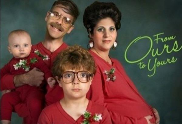80s Christmas Photo
