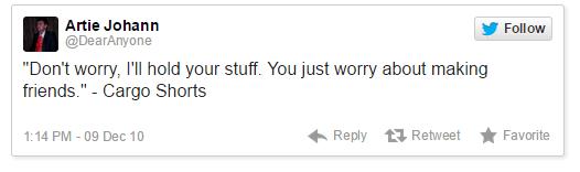 Funny Tweets Cargo Shorts
