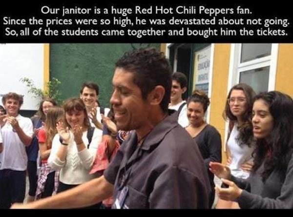 Janitor Red Hot Chili Peppers Fan