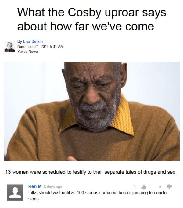 Ken M On Bill Cosby