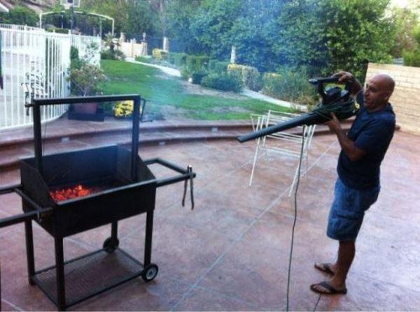 Leaf Blower BBQ
