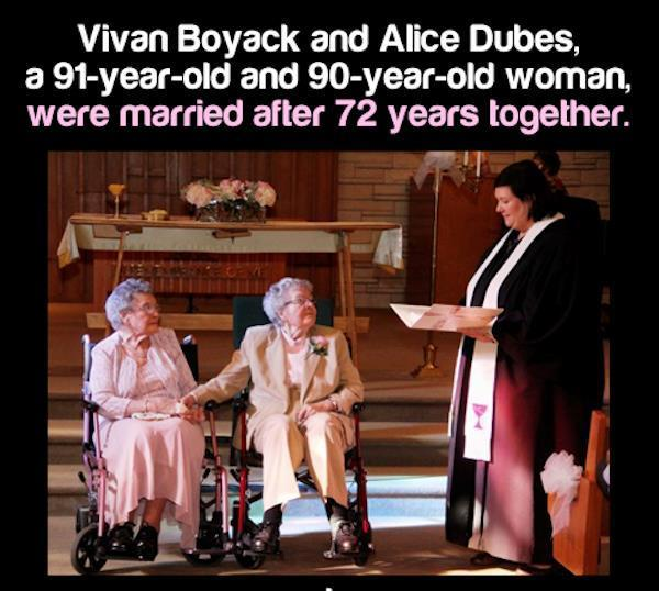 Married After 72 Years