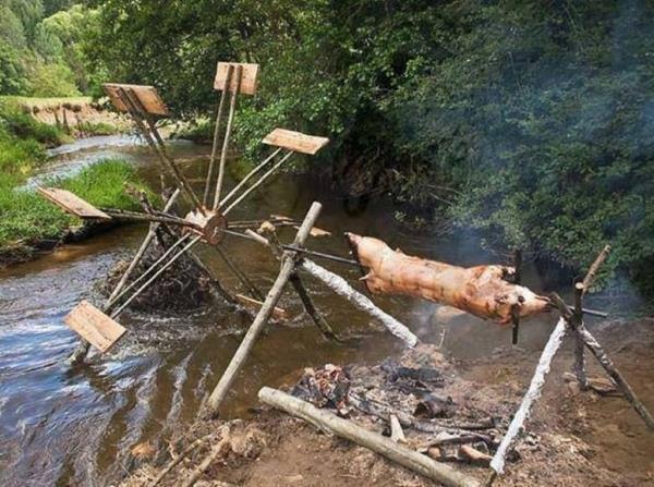 Redneck Inventions Spit Grill