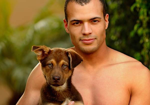 Man And Puppy