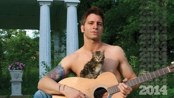 Guitar Guy And Kitten