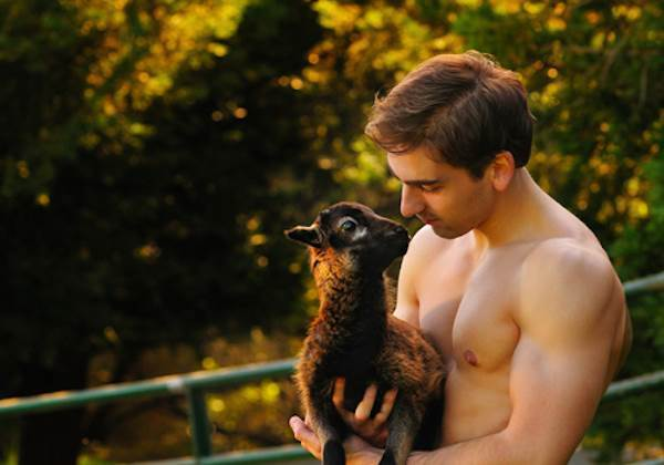 Hot Guy With A Baby Lama