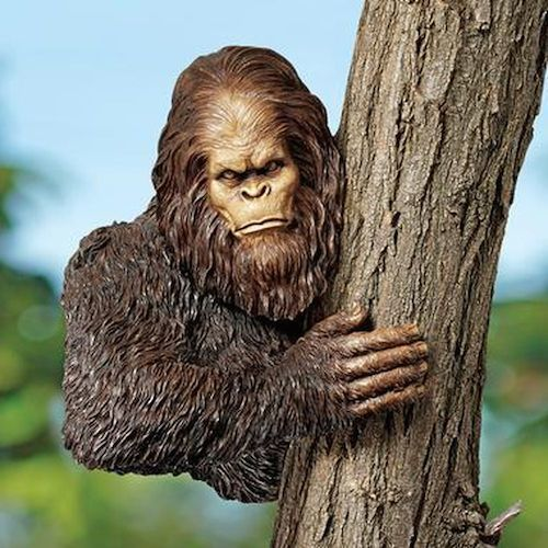 Bigfoot, the Bashful Yeti Tree Sculpture