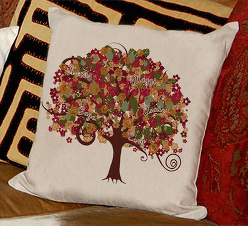 Autumn Family Tree Pillow