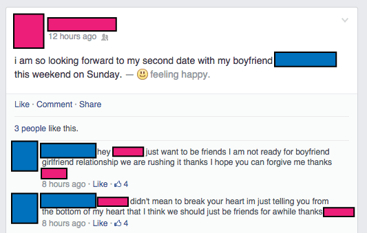 Awkward Facebook Post