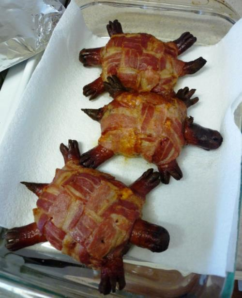 Bacon Turtles