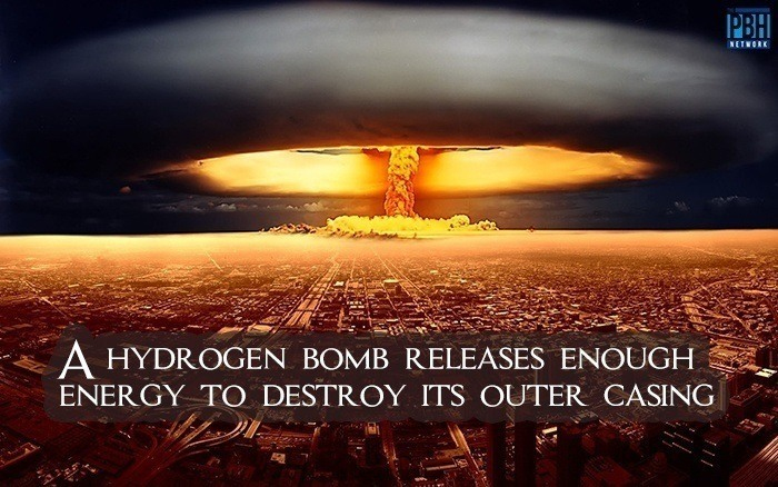 Hydrogen Bomb Release Enough Energy To Destroy Its Outer Casing