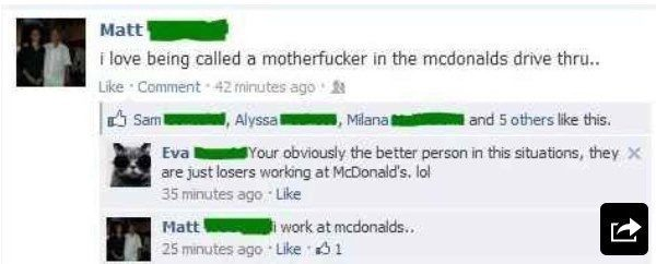 I Work At McDonald's