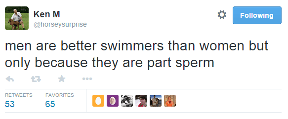 Men Are Better Swimmers