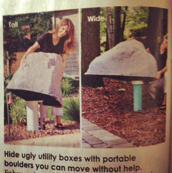 Portable Boulders Sold At Skymall