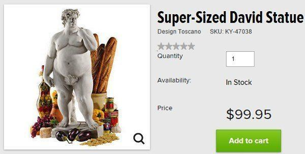 Skymall Products Super Sized David Statue