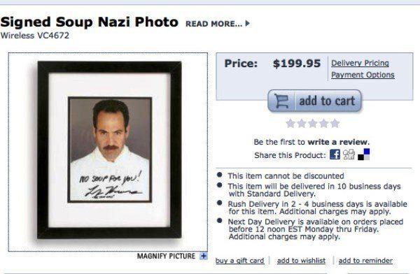 Soup Nazi Photograph