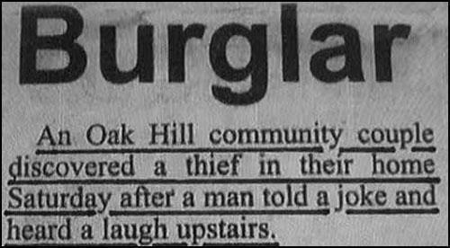 Burglar Discovery