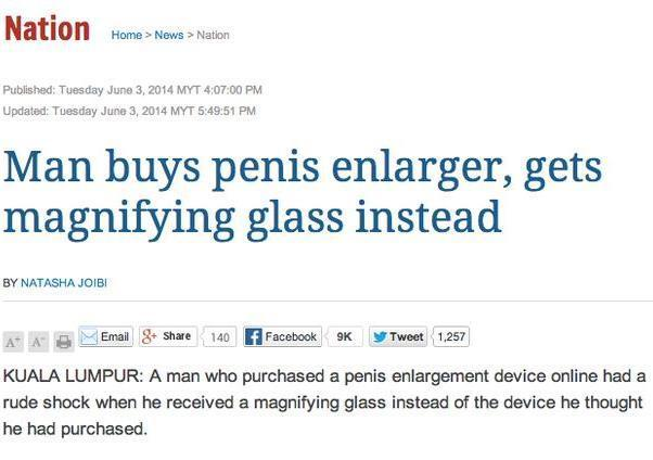 Funny Newspaper Headlines Penis Enlarger