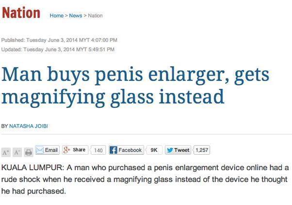 Funny Newspaper Headlines Penis Enlarger