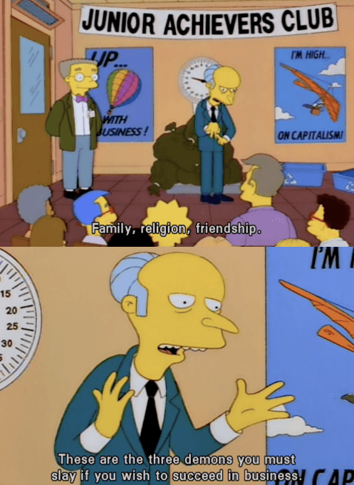 Mr. Burns Key To Success