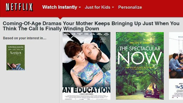 Because You Watched Boyhood