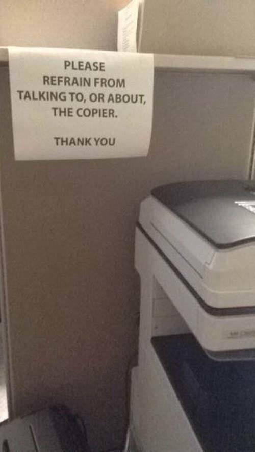 Passive Aggressive Notes Copier