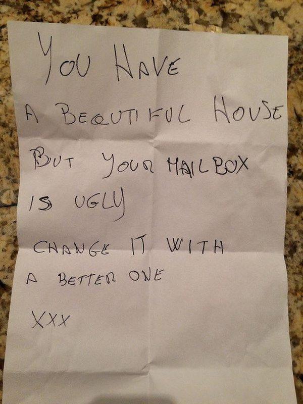 Passive Aggressive Notes Mailbox