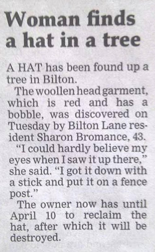 Woman Finds Hat
