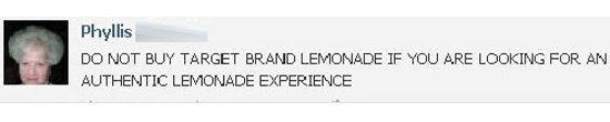 Target Brand Lemonade