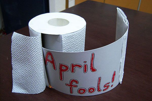 April Fools Jokes Toilet Paper