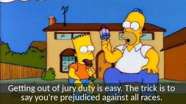 Jury Duty Homer Simpson