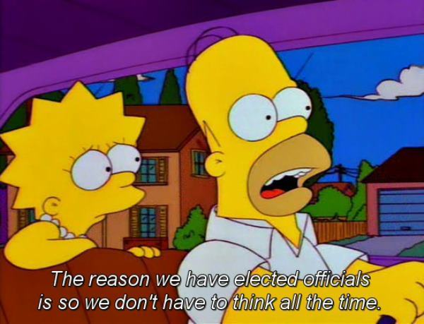 Homer Simpson On Elected Officials