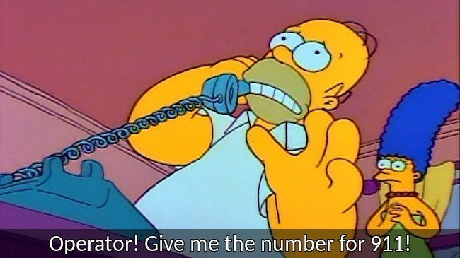 Homer Simpson Quotes 911