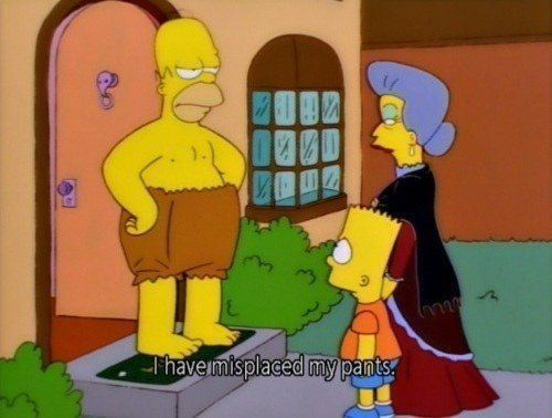 Homer Simpson Quotes Misplaced Pants