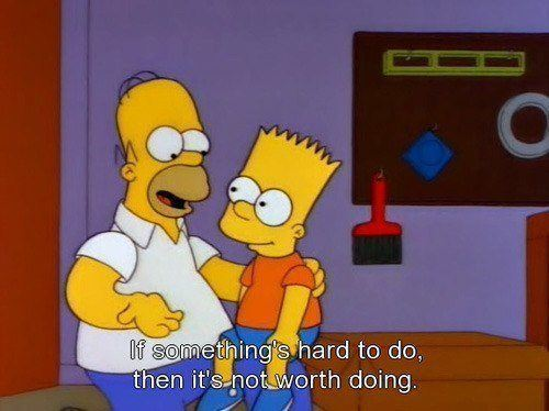 Homer Simpson Quotes Something Hard