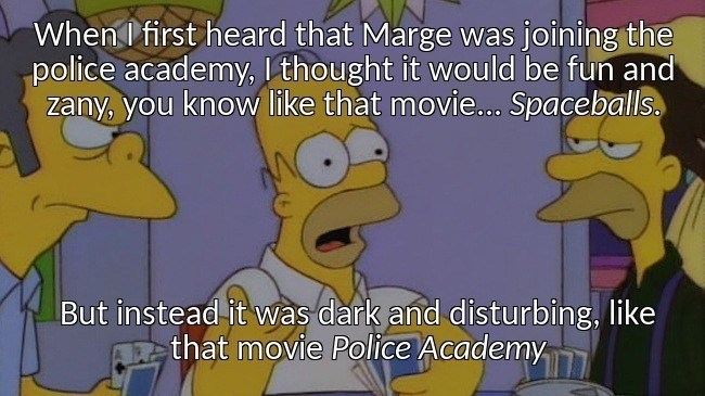 Marge Becomes A Cop