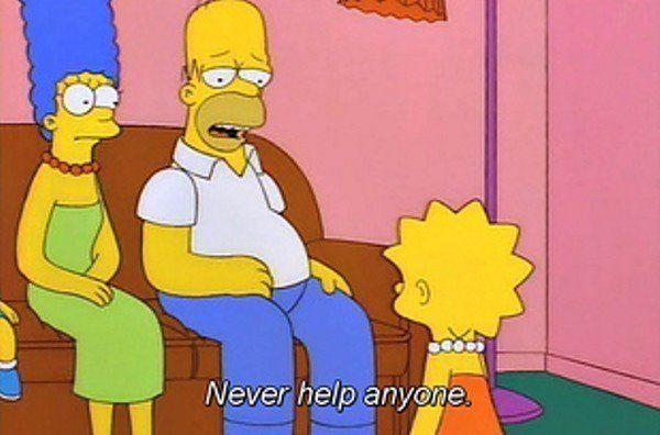 Never Help Anyone