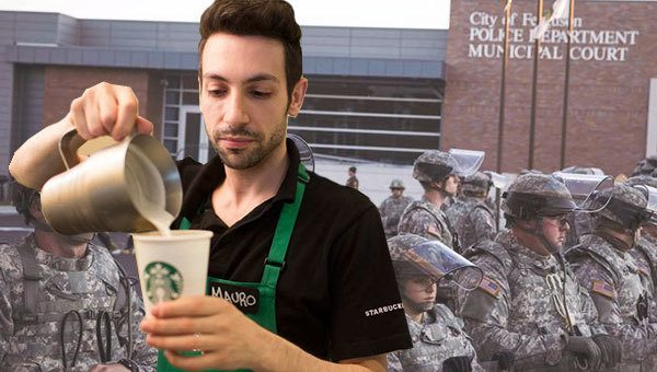 Starbucks Barista Replaces Ferguson