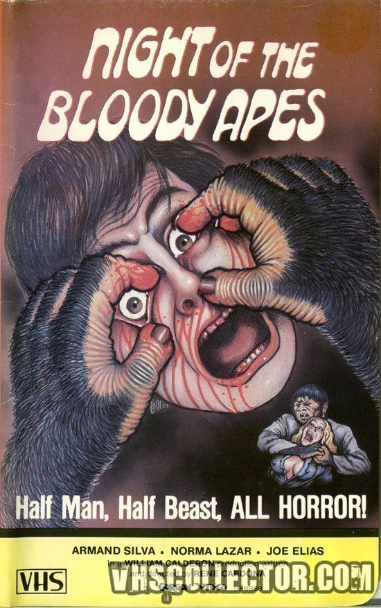 Strange Vhs Covers Night Of The Bloody Apes