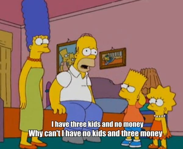 Three Kids And No Money