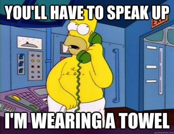 Wearing A Towel