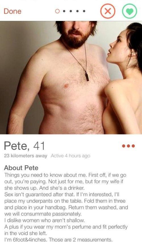 fake tinder profile template