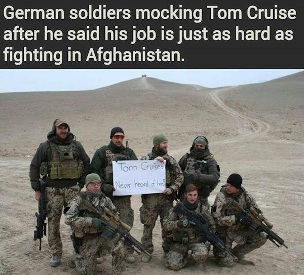 German Soldiers Mock Tom Cruise