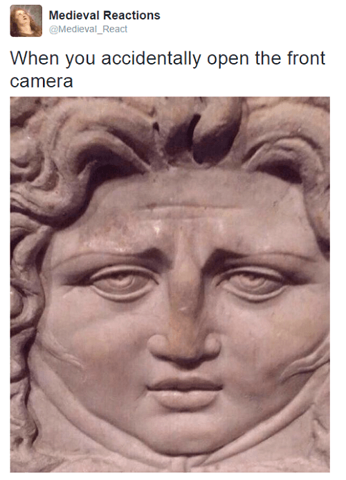 Medieval Reactions Front Camera