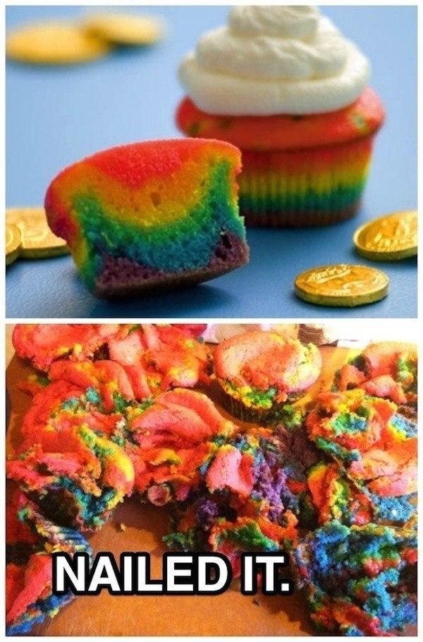 Rainbow Cupcake Fail