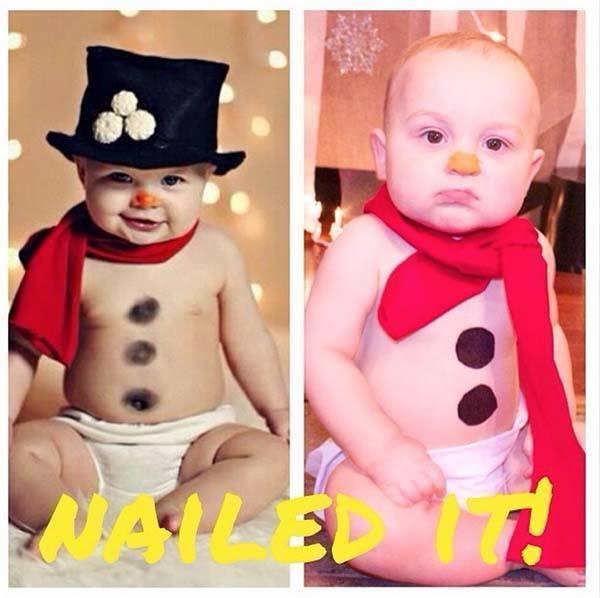 Snowman Baby Fail