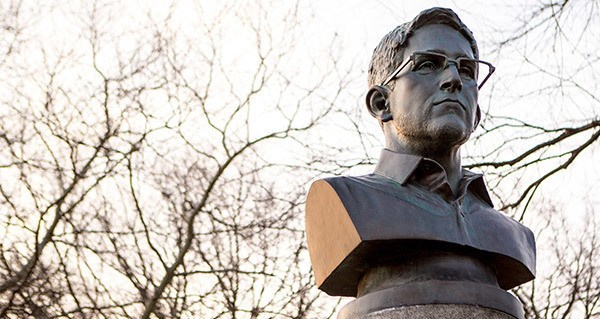 Bust Statue Of Edward Snowden