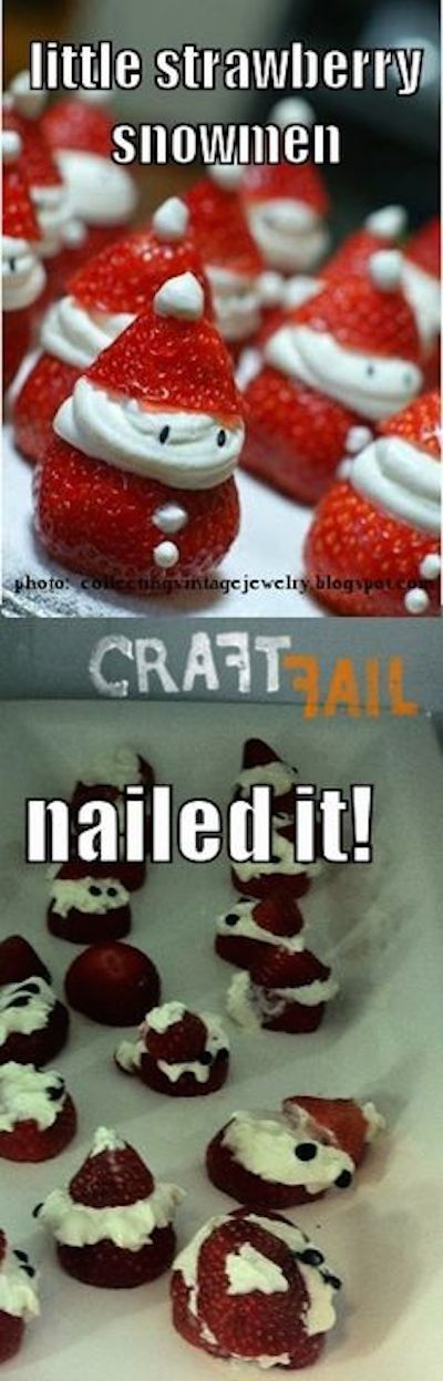 Strawberry Snowmen